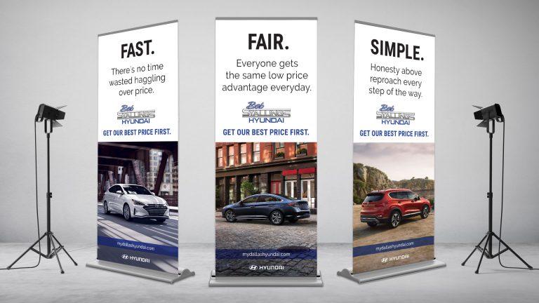 Pop-Up Displays: Bob Stallings Hyundai Fast Fair Simple