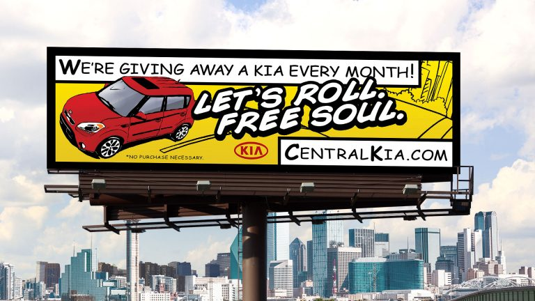 Billboard: Central Kia Lets Roll