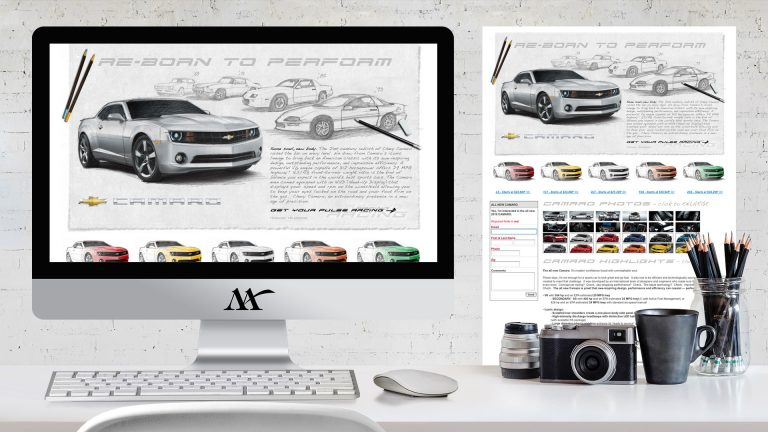 Website: Chevy Camero Microsite