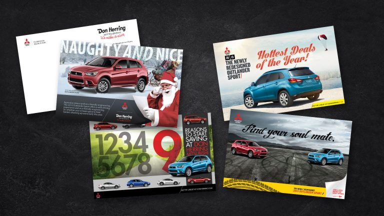 Direct Mail: Don Herring Mitsubishi Monthly Cards