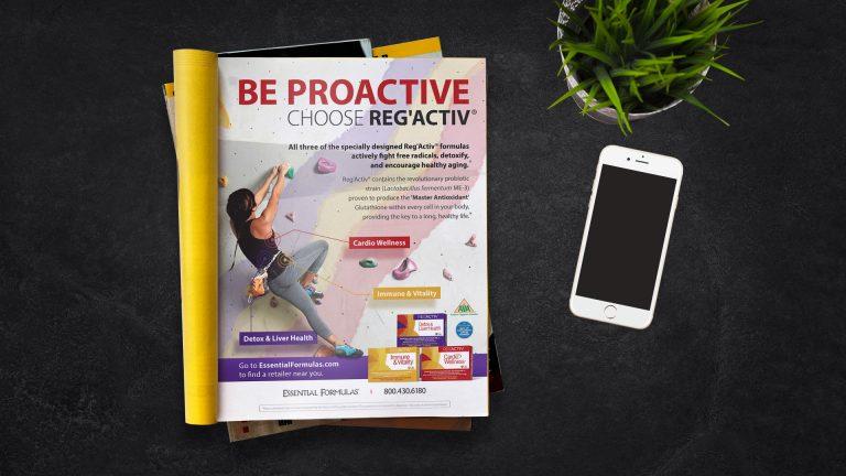 Magazine Ad: Essential Formulas Be Proactive