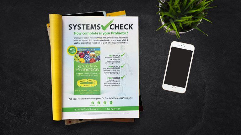 Magazine Ad: Essential Formulas Systems Check
