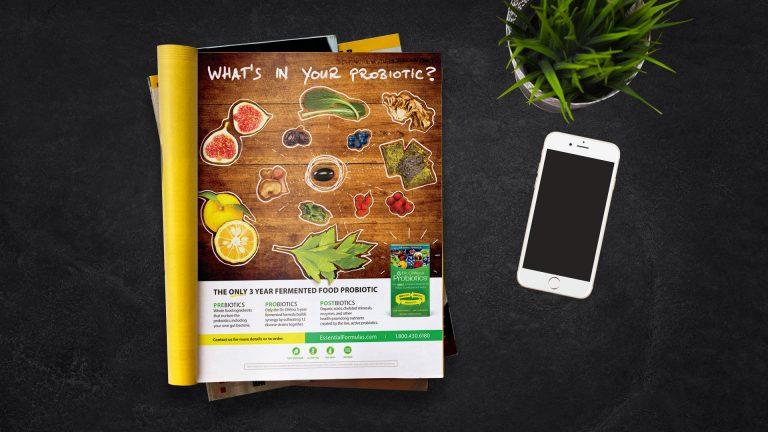 Essential Formulas Whats in Your Probiotic Magazine Ad
