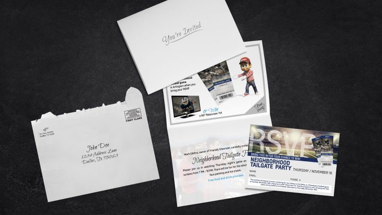 Direct Mail: Friendly Chevrolet Tailgate Invite