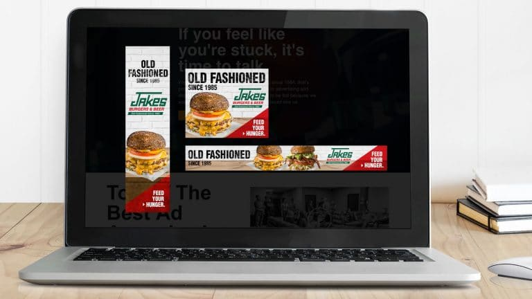 Web Banners: Jakes Burgers and Beer