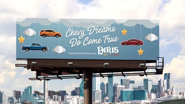 Billboard: Paris Chevrolet Dreams Do Come True