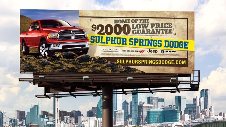 Billboard: Sulphur Springs CJDR Low Price