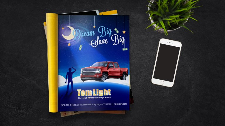 Magazine Ad: Tom Light Chevrolet Dream Big