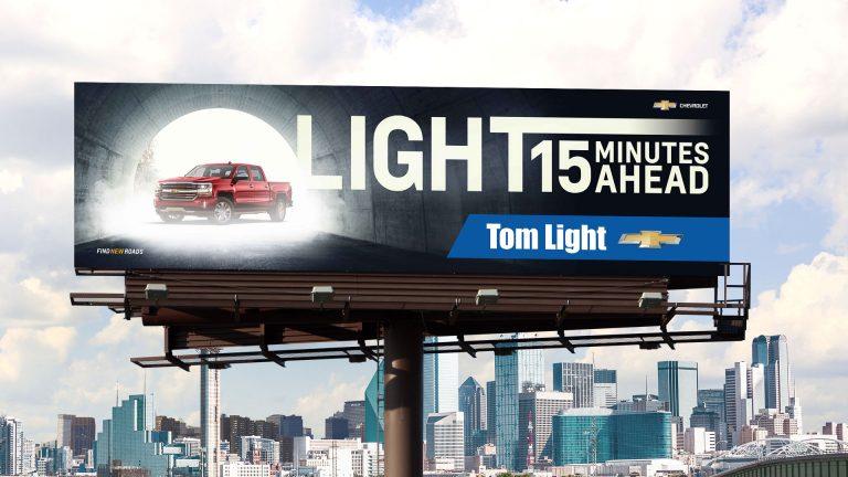 Billboard: Tom Light Chevrolet Light